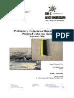 Preliminary Geotech Report for the Guba Seam