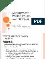 Keperawatan Pasien PASCA OP