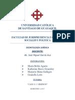 Tutoría Deontología