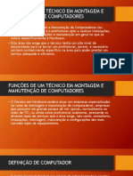 Funções de Um Técnico Em Montagem e ManutençãoFunções de Um Técnico Em Montagem e Manutenção