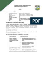 Silabo Prod. Vacunos de Carne