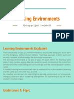 Learning Environment-group Proj, Mod 8