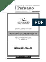 Auditoria de Cumplimiento - 2014