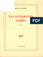 Les Testaments Trahis - Milan Kundera