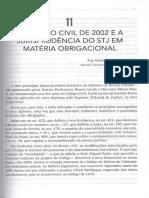 AGUIAR JÚNIOR, Ruy Rosado. O Código Civil de 2002 e a Jurisprudência Do STJ Em Materia Obrigacional
