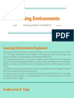 Learning Environment-group Proj, Mod 8