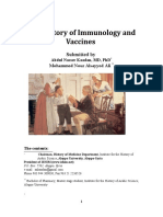 The History of Immunology and Vaccines