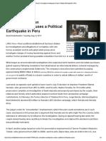 Brazil's Corruption Investigation Causes a Political Earthquake in Peru