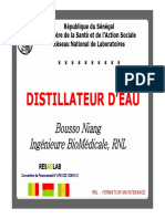 Maintenance Distillateurs Eau