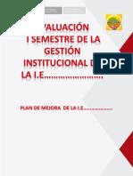 Plantilla Para Informe de Gestión de i.e.