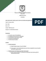 Minit Mesyuarat Panitia Sains Kali Pertama SMK Bandar Kuala Krai 2017