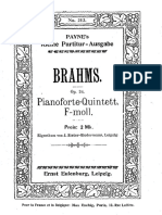 Brahms - Piano Quintet in F Minor Eulenburg Score