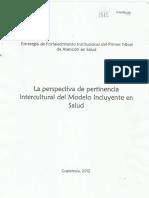 La Perspectiva de Pertinencia Intercultural Del MIS