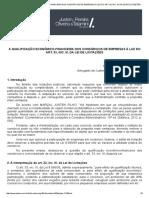 A Qualificação Econômico-financeira Dos Consórcios de Empresas à Luz Do Art. 33, Inc