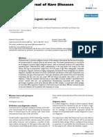 Osteosarcoma (Osteogenic Sarcoma). Orphanet Journal of Rare Disease.