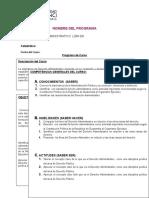Registro de Programa de Derecho Administrativo
