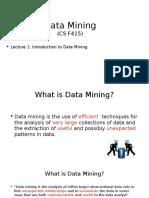 L01- Data Mining