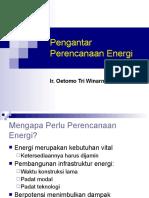 Perencanaan Energi