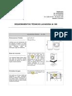 Requerimientos Técnicos Lavadora Ia180
