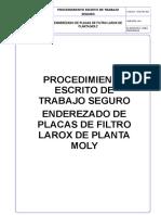1_pet_enderezado de Placas de Filtro Larox de Planta Moly