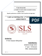 Contracts Case Analysis