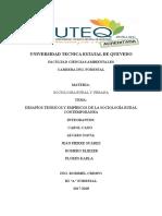 Desafíos Teóricos y Empíricos de La Sociología Rural Contemporánea