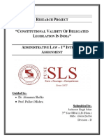 Constitutional Validity of Delegated Legislation in India