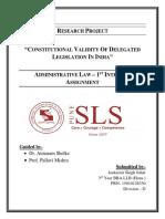 Constitutional Validity of Delegated Legislation in India