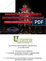 Innovation Leadership and Entrepreneurship CANADA 24 SEP AL 1 de OCT 2017 CECYTE
