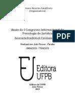 Anais do I Congresso Internacional de Psicologia  Jurídica