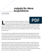 Strategic Analysis for More Profitable Acquisitions