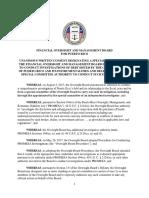 Resolución de Consentimiento Unánime designando comité especial de la Junta para la investigación de la deuda de Puerto Rico