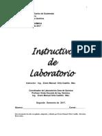Instructivo de Lab de Bioquimica 2017 version 1 Segundo semestre de 2017.pdf