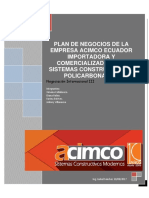 Plan de Negocios Acico Ecuador