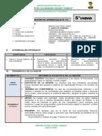 5° PRIMARIA-SESIÓN DE APRENDIZAJE-ED. FISICA 3 (5° unidad)