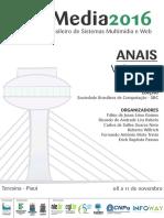 WebMedia2016 Anais Volume3 Minicursos