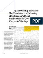 Raisin the Worship Standard - The Translation and Meaning of Colossians 3.16 and Implications for Our Corporate Worship - Barry Joslin