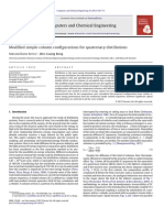 Modified Simple Column Configurations for Quaternary Distillations - Errico2012