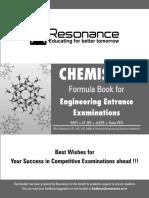 Resonance Gyan Sutra Chemistry Formula Booklet
