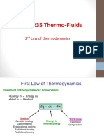 Second Law of Thermofluid