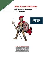 pma athletic handbook 2017-18