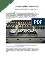 Cómo Apostillar Documentos en Venezuela