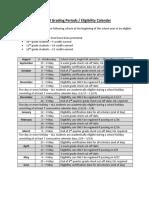Grading Period-Eligibility Calendar 2017-18