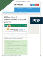 297 Exercícios de Interpretação de Textos Com Gabarito