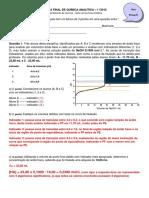 Prova Escrita QUI208!1!2015 Gabarito