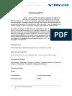 Metodologia Do IPC-S - Setembro de 2009