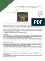 A Importância Da Relação Interpessoal No Ambiente de Trabalho _ Psicologia Organizacional _ Atuação