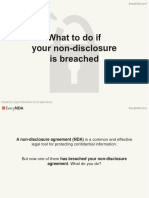 What to Do if Your Non-disclosure is Breached