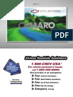 Chevrolet Camaro 2001 1998-2002 Manual Usuario Ingles