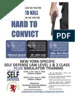 Law of Self Defense LEVEL 1 & 2 New York 6-2-18